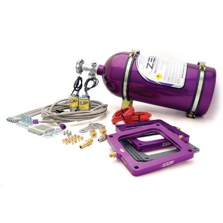 82185 ZEX Square Flange Dual Perimeter Plate Nitrous System - 100-300 hp