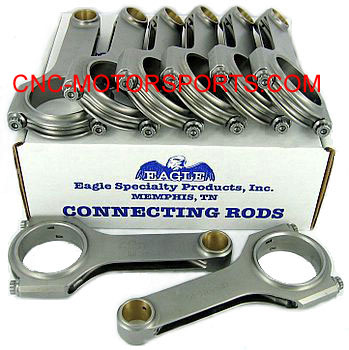 Eagle CRS6000B3D-1 4340 Forged H-Beam Rod 6.000 For Chevy Small Block NEW 1