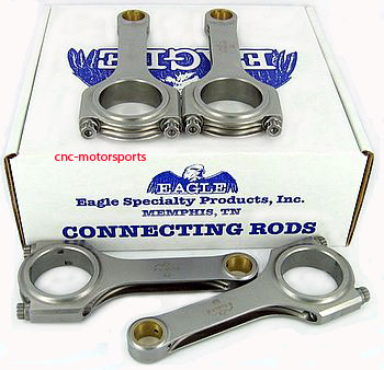 Eagle Specialty Products CRS5428T3D 5.428 4340 Forged H-Beam Connecting Rod Set for Toyota